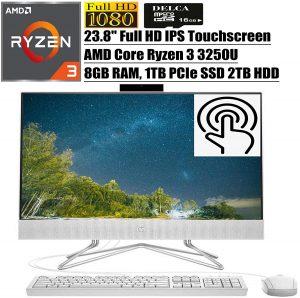 HP 23.8 inch All in One Desktop PC A132