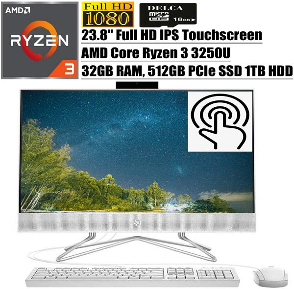 HP 24 All in One PC I 23.8 inch A96
