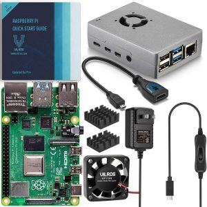 Vilros Raspberry Pi 4 Basic Starter Kit A254 Single Board Computer