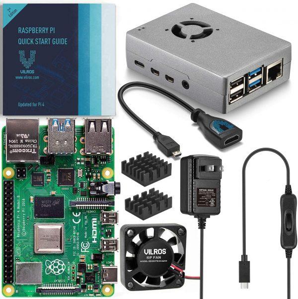 Vilros Raspberry Pi 4 Basic Starter Kit A254 Single Board Computer